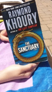 Kate's poolside reading
