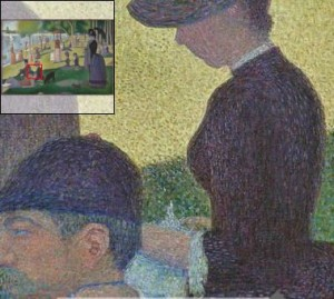 Seurat's bookish lady